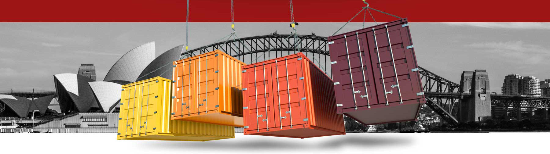 Shipping containers on chains in Sydney